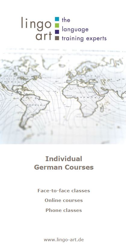 Flyer individual German courses
