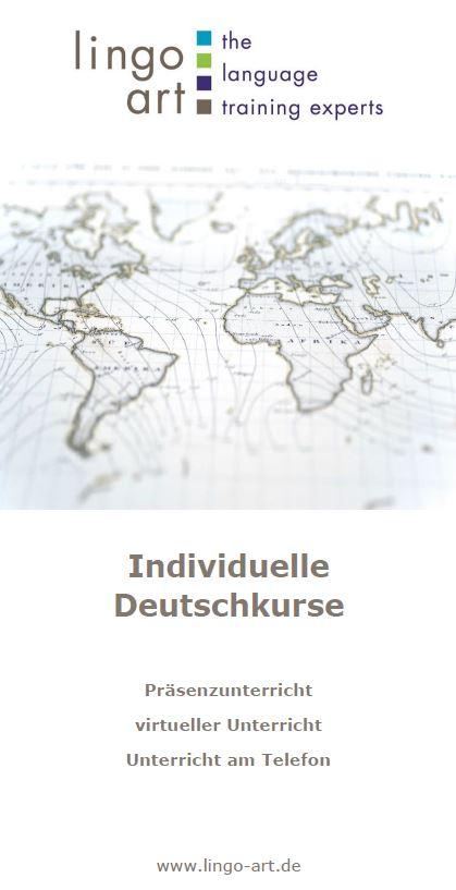 Flyer individuelle Deutschkurse